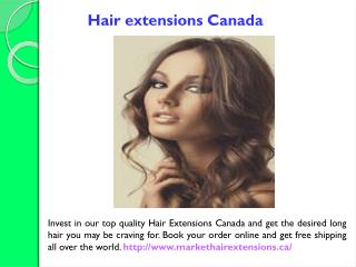 Clip in hair extensions Canada