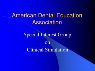 American Dental Education Association