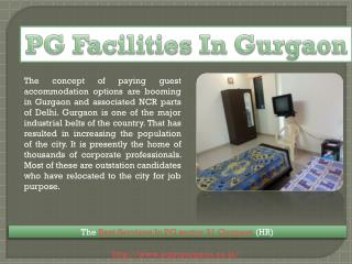 PG in Gurgaon