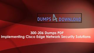 How To Pass Cisco 300-206 Dumps - Dumps4download