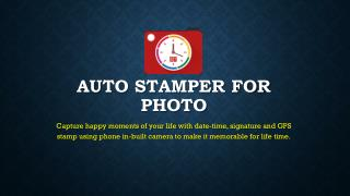 Auto Stamper for Photo - Photography application