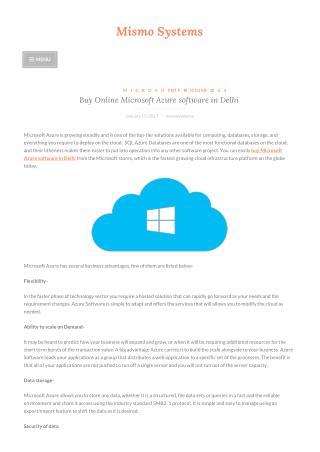 Buy Online Microsoft Azure software in Delhi