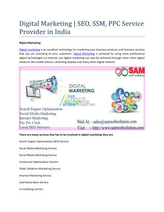 Digital Marketing | SEO, SSM, PPC Service Provider in India