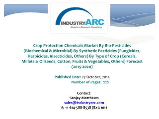 Crop Protection Chemicals Market Nurtured By Awareness Of Advantages Of Modern Agricultural Practices