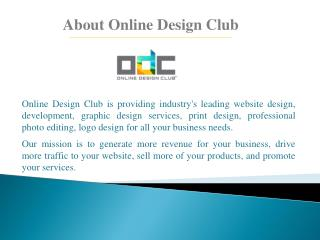 Website and Graphic Designing Services - Online Design Club