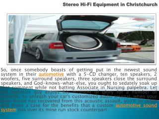 Stereo Hi-Fi Equipment in Christchurch