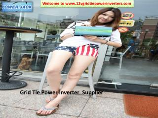 Buy best quality Grid Tie Power  Inverters at Power Jack Electric