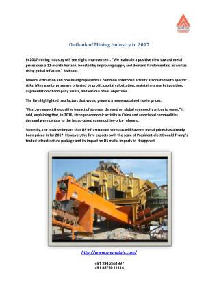 Outlook of Mining Industry in 2017