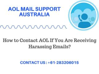 How to Contact AOL If You Are Receiving Harassing Emails?