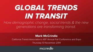 California transit association keynote slideshare 13 november 2014