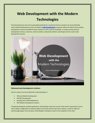 Website Development with the Latest Technologies