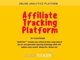 Clickticker - Online Analytics Platform - Affiliate Tracking Platform