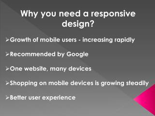 Why you need a responsive design