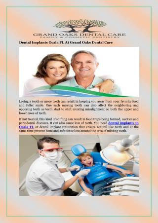 Dental Implants Ocala FL At Grand Oaks Dental Care