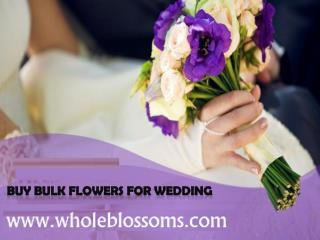 Buy Bulk Flowers For Wedding - www.wholeblossoms.com