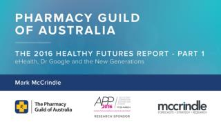 Pharmacy Guild presentation part 1   Mark McCrindle