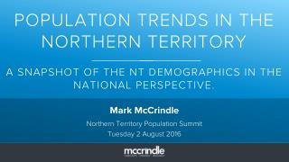 Northern Territory Population Summit Mark McCrindle