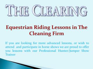 Equestrian Riding Lessons in The Cleaning Firm