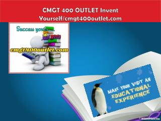 CMGT 400 OUTLET Invent Yourself/cmgt400outlet.com