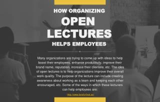 How organizing open lectures help employees?