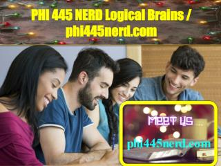 PHI 445 NERD Logical Brains / phi445nerd.com