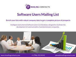 Software Users Mailing List