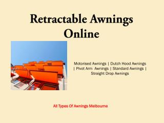 Retractable Window Awnings