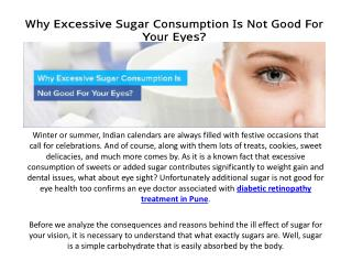 Why Excessive Sugar Consumption Is Not Good For Your Eyes ?