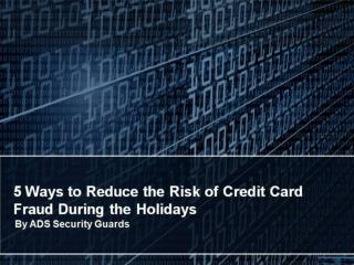 5 Ways to Reduce the Risk of Credit Card Fraud During the Holidays