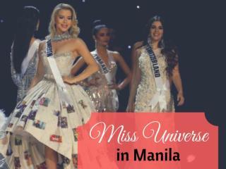 Miss Universe in Manila