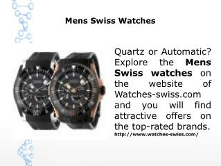 Mens Swiss Watches