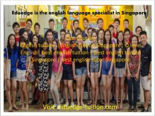 Eduedge English Tuition Singapore