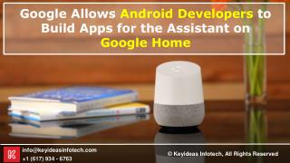Google Allows Android Developers to Build Apps for the Assistant on Google Home