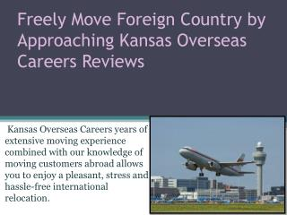 Kansas Overseas Careers Reviews based in Hyderabad