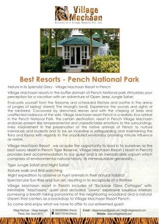Best resort pench national park - 5 star resort in Pench, Luxury resort in Pench, Hotels and resorts in Pench, Pench hot