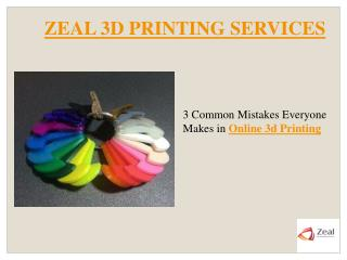 3 Common Mistakes Everyone Makes in Online 3d Printing.