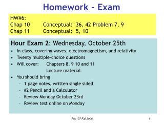 Homework - Exam