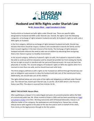 Husband and Wife Rights under Shariah Law.pdf