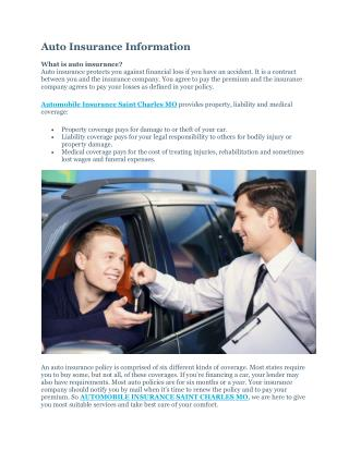 AUTOMOBILE INSURANCE SAINT CHARLES MO