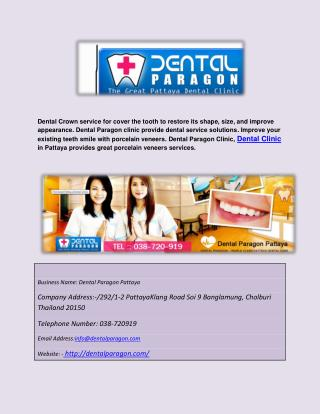 Pattaya dental crown
