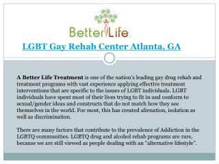 LGBTQ Treatment Atlanta
