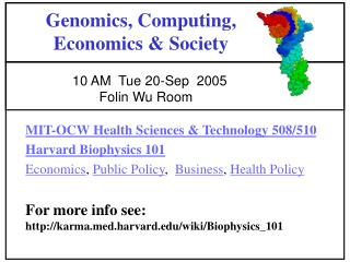 Genomics, Computing, Economics & Society