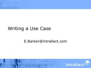Writing a Use Case