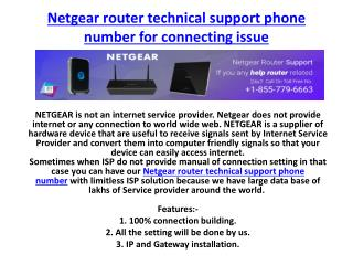 Netgear router technical support phone number