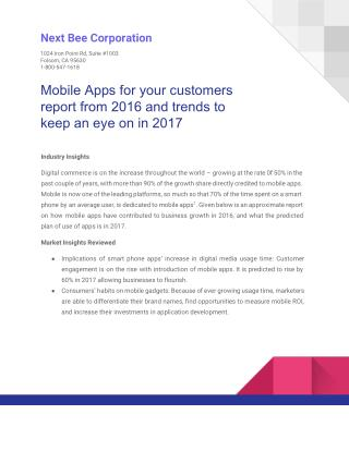 Mobile Apps for Your Customers