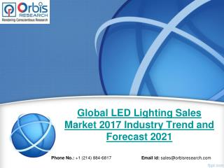 LED Lighting Sales Market Research Report: Global Analysis 2017-2021