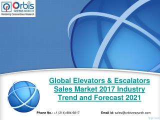 2017 Global Elevators & Escalators Sales Production, Supply, Sales and Demand Market Research Report