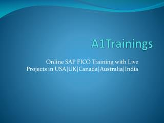 Online SAP FICO Training with Live Projects in USA|UK|Canada|Australia|India