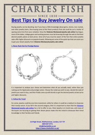 Best Tips to Buy Jewelry On sale