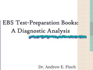 EBS Test-Preparation Books: A Diagnostic Analysis